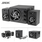SADA D-211 3 in 1 Home Speaker  3.5mm Wired Speakers Portable Music Player Y6V4