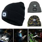 Unisex LED Light Winter Knitted Warm Beanie Hats Thermal Camping Outdoor Caps