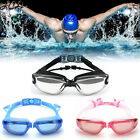 Adjustable Swimming Goggles Anti Fog UV Protection with Ear Plugs / Glasses Case