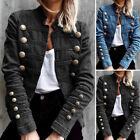 Womens Ladies Denim Jacket Loose Coat Casual Overcoats Plus Size Tops Outerwears