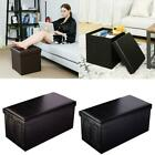 PU Leather Storage Ottoman Bench Footstool Seat Home Decor Furniture Cube/Cuboid