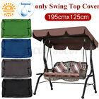 Waterproof Anti-UV Patio Swing Top Cover Canopy Replacement Outdoor 77''x49'' US