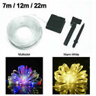 7m LED Solar Rope Tube String Lights Waterproof Outdoor Party Lamp Garden Decor