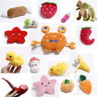 Pet Dog Cat Soft Chew stuffedToy Puppy Teething Plush Sound Squeaker Toys UK