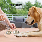 Stainless Steel Pet Dog Cat Feeding Bowls Double Puppy Food Water Feeders
