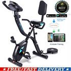 Folding Upright Exercise Bike 3-in-1 Magnetic Stationary F-Bike APP Control