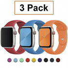 3Pack Silicone Sport Band Strap for Apple Watch 6 5 4-1 iWatch SE 38/40/42/44mm