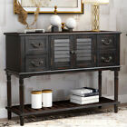 Buffet Console Table Sideboard Storage Cabinet Entryway Sofa Table w/ 4 Drawers