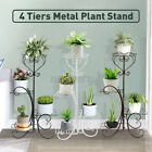 4 Tier Metal Plant Stand Display  Home Decor Retro Garden Flower Pot Shelf