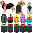 Pet Puppy Dog Padded Vest Coat Jackets With Ring Winter Outdoor Apparel Clothing