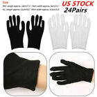 24Pairs Soft Lightweight Protective Working Glove for Coin Jewelry Inspection US