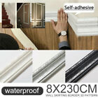 2.3m Wall Border 3d Pattern Self Adhesive Waterproof Sticker Home Room Decor