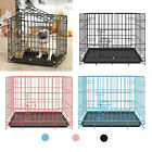 Animals Pet Folding Dog Cat Crate Cage w/ Tray  Handle Kennel Pen for Puppy