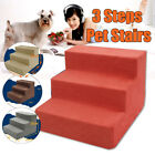 Portable Cat Dog 3 Steps Pet Stairs Ramp Easy Way Ladder Cover Indoor Pet