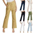 Womens Pants Ladies Drawstring Long Trouser Casual Solid With pockets Jogging