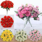 18 Heads Silk Rose Artificial Flowers Fake Bouquet Wedding Home Party Decoration