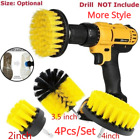4pcs Electric Drill Brush Power Cleaner Tool Washing Scrubber For Car Kitchen