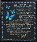 Mom to My Daughter Laugh Love Live I Love You to The Moon Quilt, Fleece Blanket