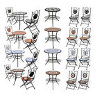 Mosaic Bistro Set Outdoor Patio Garden Furniture Side Table Set Folding Chairs