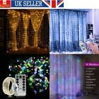 LED+Fairy+String+Curtain+Lights+USB+Hanging+Wall+Lights+Wedding+Party+w%2F+Remote