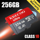 Micro SD Memory Card 256GB 100MB/S Class10 4K Fast Flash TF Card with Adapter