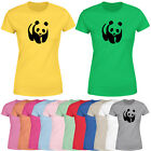Panda Womens T Shirt Funny Animal Lovers Ladies Novelty Gift Tee Top