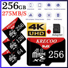 64/128/256GB Universal Micro SD SDXC TF Flash Memory Card Class 10 with Adapter