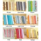 7+PCS+Cotton+Fabric+Polyester+Floral+Prints+Pre-+Cut+Sewing+Quilting+Craft