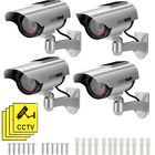 Solar Powered Dummy Fake Surveillance Camera Security CCTV W/ LED Flashing Light
