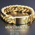 Men's 18k Yellow Solid Gold Filled 8mm Curb Cuban Link Chain Bracelet Jewellery