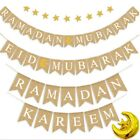 Ramadan Kareem Eid Mubarak Banner Bunting Decoration Muslim Islamic Home Decor