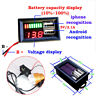 More images of LED 12V Lead Acid Battery Capacity Indicator Voltage Meter Dual USB Charger Tool