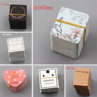 20 Pcs Kraft Paper Ear Studs Hang Tag Jewelry Display Cards Earrings Holder Tags