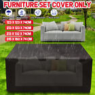 Waterproof Dustproof Patio Furniture Cover Rectangle Table Rain Covers