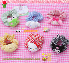 2pcs Hello Kitty Plush Doll Kuromi Hair Rope Melody Hairband Cinnamoroll Gifts