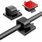 10/20/50 X Cable Clips Self Adhesive Cord Management Wire Holder Organizer Clamp