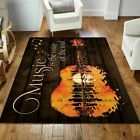 Rugs Living Room Rug Music Is The Voice Of The Soul Guitar The US Home Decor