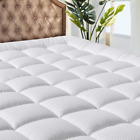 MATBEBY Bedding Quilted Fitted Queen Mattress Pad Cooling Breathable Fluffy Soft