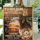 Lion Family Mom to My Son I Wish You the Strength to Face Challenges Blanket