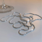 925 Silver Gypsophila Flash Chain Necklace Clavicle Women Charm Jewelry Gifts