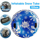 Large Inflatable Snow Tube PVC Heavy Duty For Children Adult Outdoor Sledding