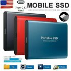 USB 3.0 External SSD Solid State Drives 2TB 2.5' Portable Mobile Hard Drive US