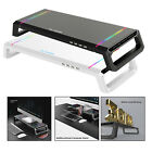 Laptop Computer Screen Monitor Stand Riser Holder RGB 4 USB 2.0 Durable