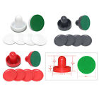 2PCS Plastic Air Hockey Pushers and 4PCS Pucks Replacement for Game Tables