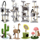 Adjustable Cat Tree Scratching Post Tower Activity Center Stable Climbing Frame
