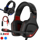 LED Wired Gaming Headset Mic Stereo Bass Surround Headphone For PS4 PC Xbox One